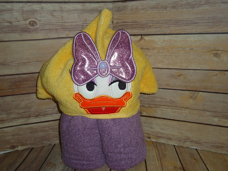 Daisy Duck Inspired 3D Hooded Towel