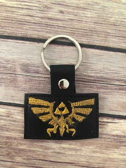 Legend of Zelda Symbol Embroidered Key Chain