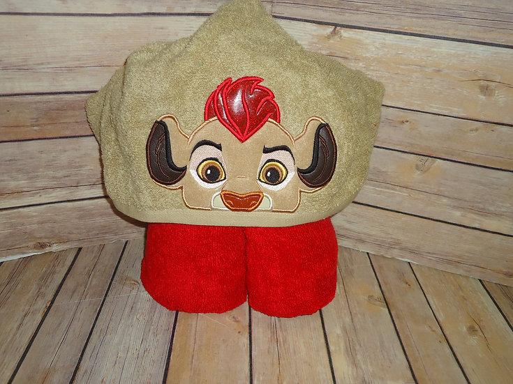Lion Leader Hooded Towel
