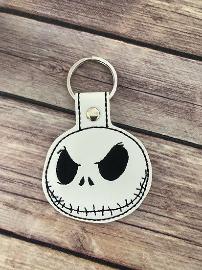 Jack Head Embroidered Key Chain