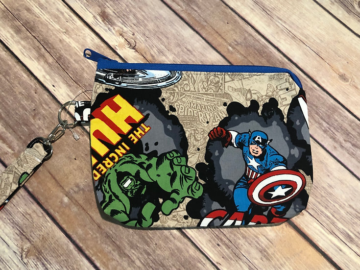 Marvel Characters Themed Wristlet - Ready to Ship