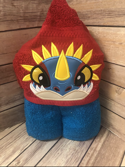 Stormfly Blue Dragon Child Size Hooded Towel - Ready to Ship