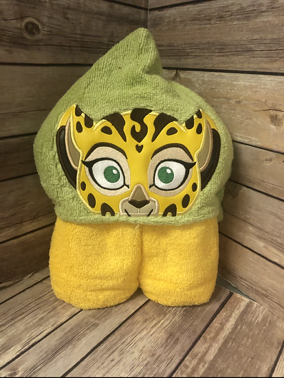 Fuli Cheetah Child Size Hooded Towel - Ready to Ship