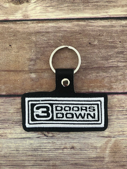 3 Doors Down Embroidered Key Chain
