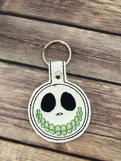 Barrel Mask Embroidered Key Chain
