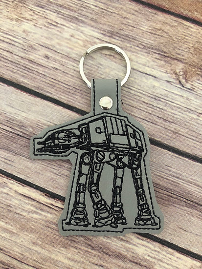 S W   AT-AT Embroidered Key Chain