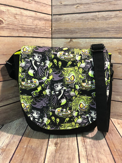 BeetleJuice Themed Crossbody Bag- Choose your Lining - Made To Order