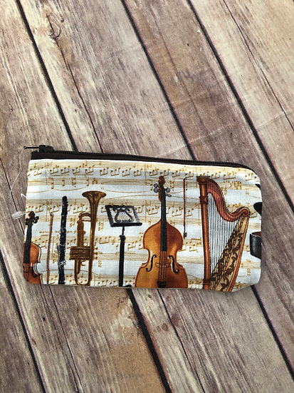 Musical Instruments Zipper Pouch - Ready to Ship