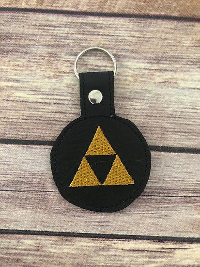 Legend of Zelda Triforce Symbol Embroidered Key Chain