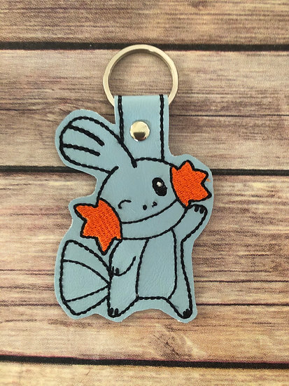 Pocket Monster Mudkip Embroidered Key Chain