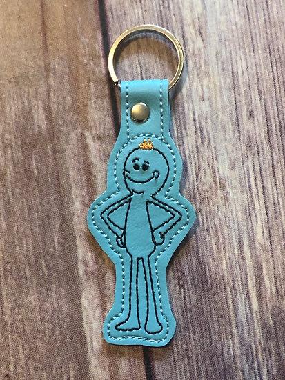 Mr Meeseeks Embroidered Key Chain
