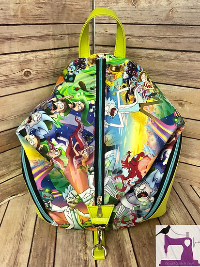 Science Mayhem themed Backpack -Ready to Ship