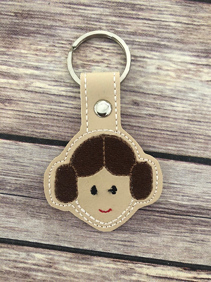 S W Leia Embroidered Key Chain