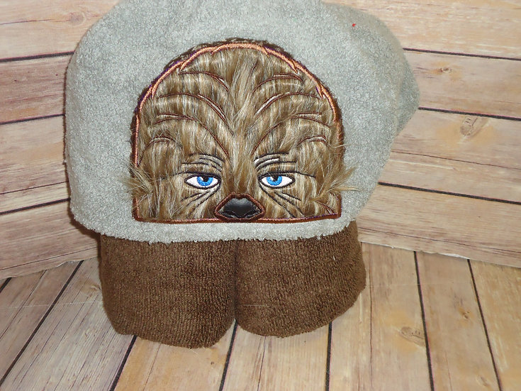 Furry Star Fighter Hooded Towel