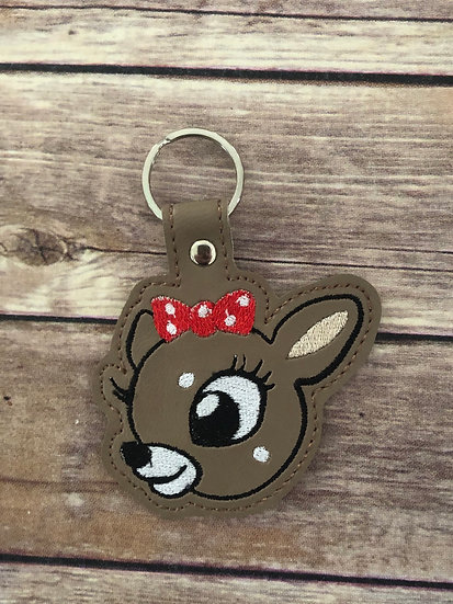 Clarice Embroidered Keychain