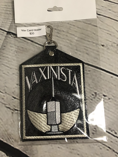 Black Glitter Vaxinista Vaccine Card Holder - Ready to Ship
