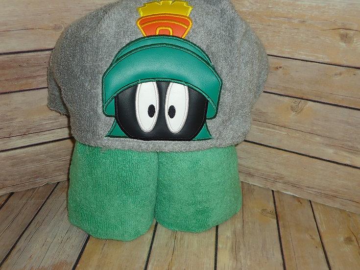 Marvin Martian Inspired Hooded Towel
