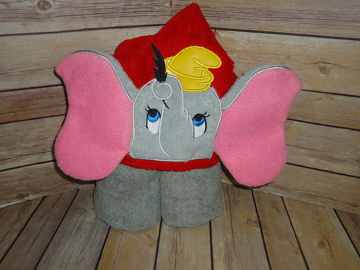 Dumbo Inspired 3D Hooded Towel