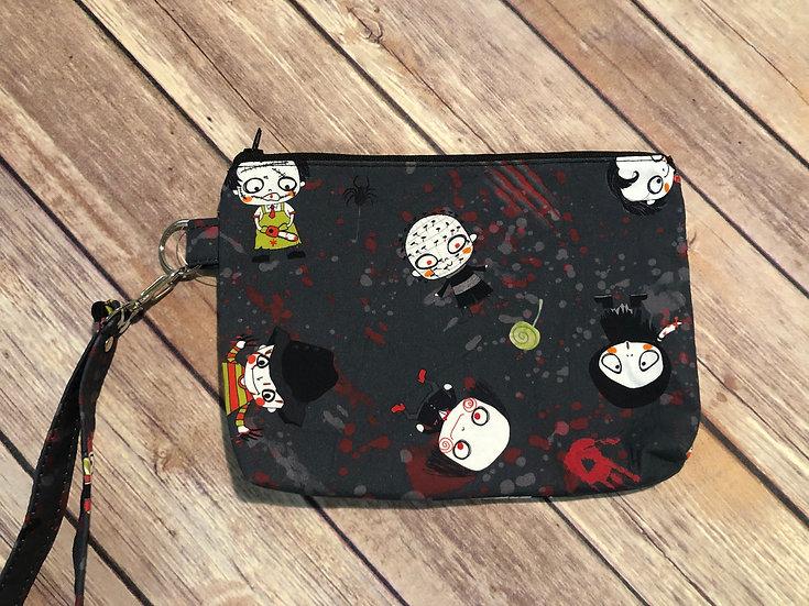 Horror Chibi themed Wristlet - Ready to Ship