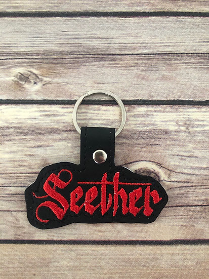 Seether Embroidered Key Chain