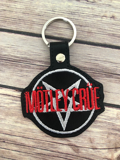 Motley Crue Embroidered Key Chain
