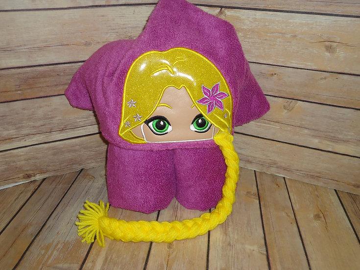 Rapunzel Inspired 3D Hooded Towel