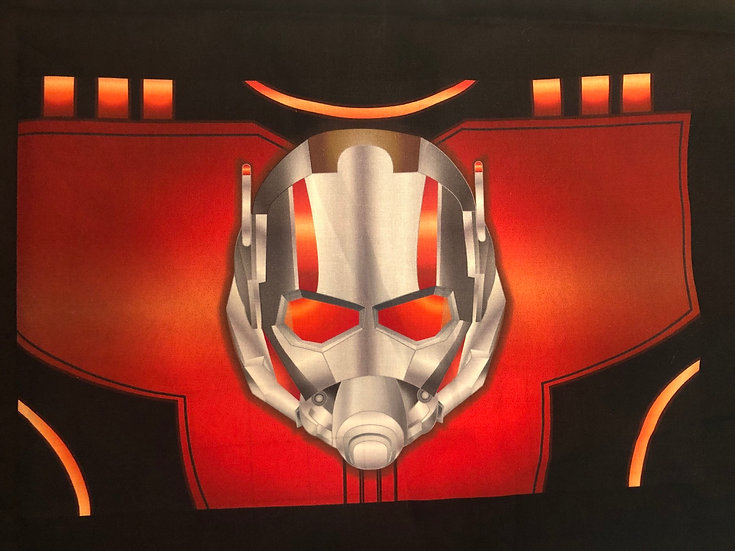 Ant Man Themed Washable Fabric Face Mask - Elastic or Ties