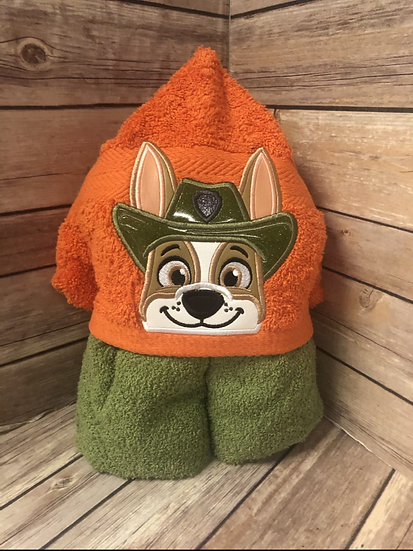 Tracker Child Size Hooded Towel - Ready to Ship