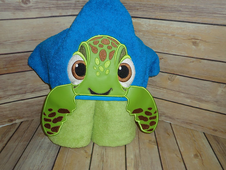 Sea Turtle Squirt Inspired 3D Hooded Towe