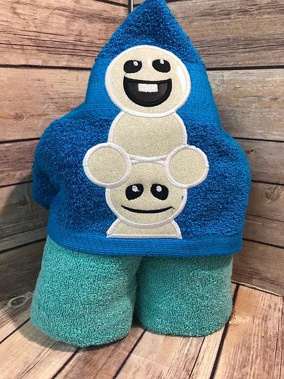 Snow babies hooded towel