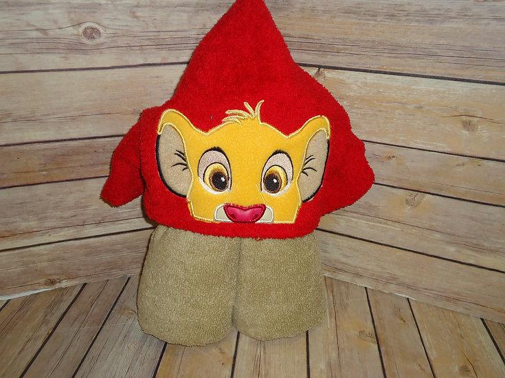 Simba Inspired Hooded Towel