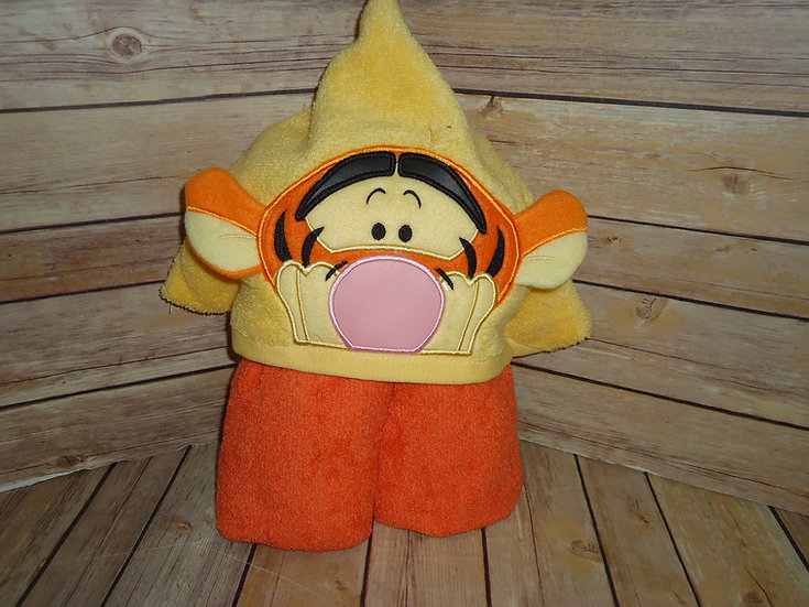 Tigger Inspired 3D Hooded Towel