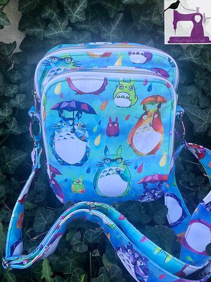 Rainbow Totoro Widget Messenger Bag -ready to ship