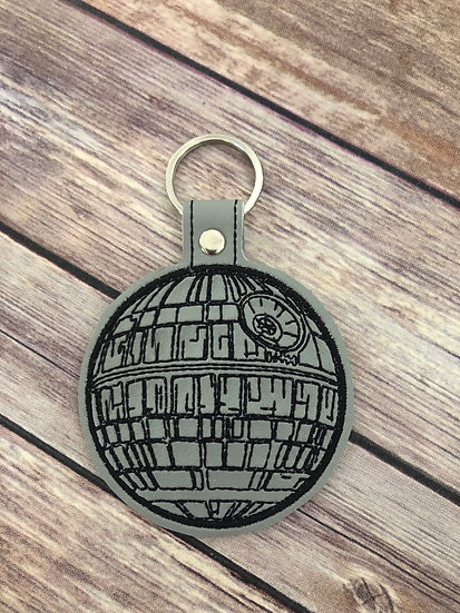 S W  Death Star Embroidered Key Chain
