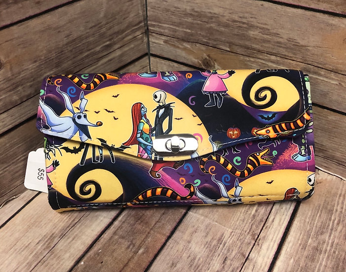 Nightmare Before Christmas themed Necessary Clutch Wallet-Ready To Ship