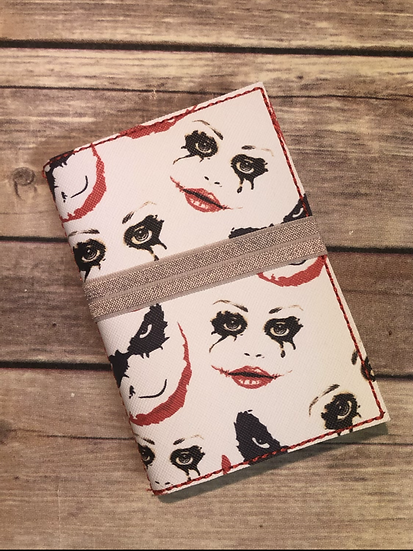 Joker and Harley faces Notebook Keeper - Ready to Ship
