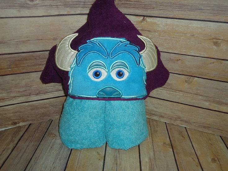 Horned Monster Sully Inspired 3D Hooded Towel