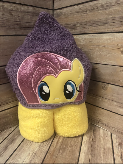 Fluttershy Child Size Hooded Towel - Ready to Ship