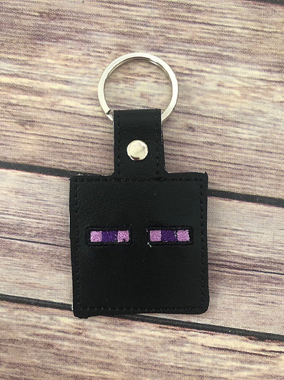 Enderman Embroidered Key Chain