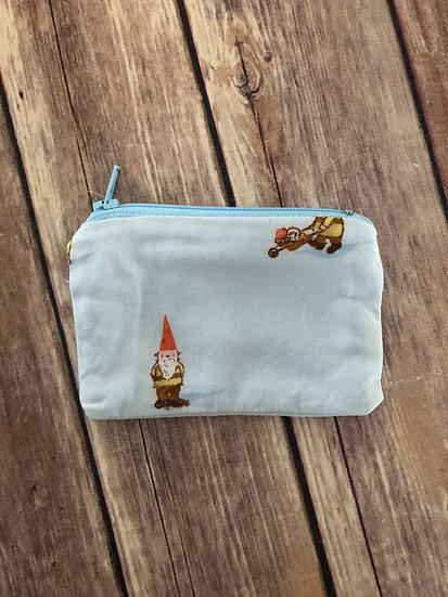 Garden Gnome Zipper Pouch - Ready to Ship