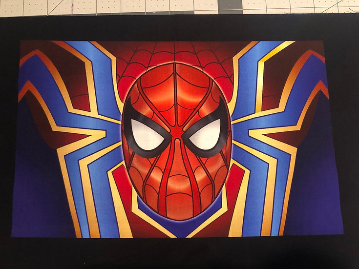 Spider-Man Themed Washable Fabric Face Mask - Elastic or Ties