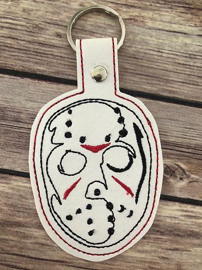 Jason Hockey Mask Embroidered Key Chain