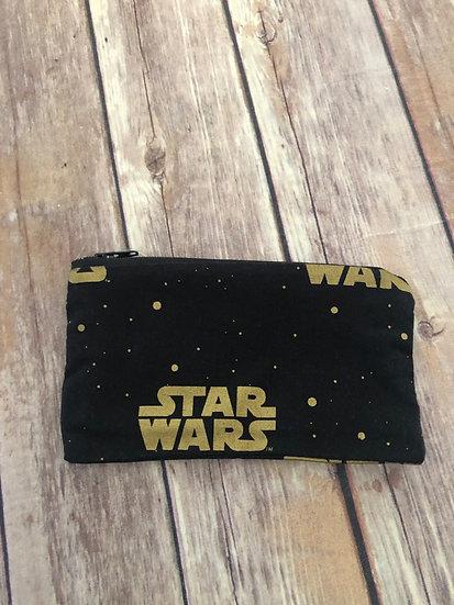 Star Wars Gold Logo Zipper Pouch - Ready to Ship