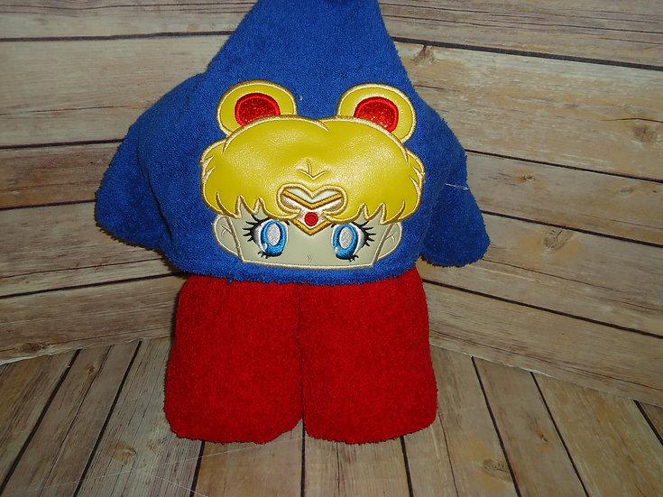 Lunar Girl Inspired Hooded Towel