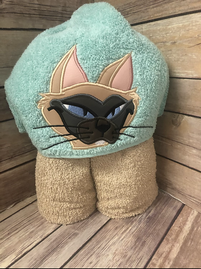 Siamese Cat Child Size Hooded Towel - Ready to Ship