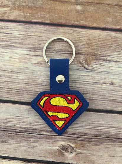 Superman Embroidered Key Chain
