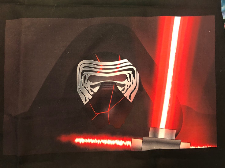 Kylo Ren Themed Washable Fabric Face Mask - Elastic or Ties
