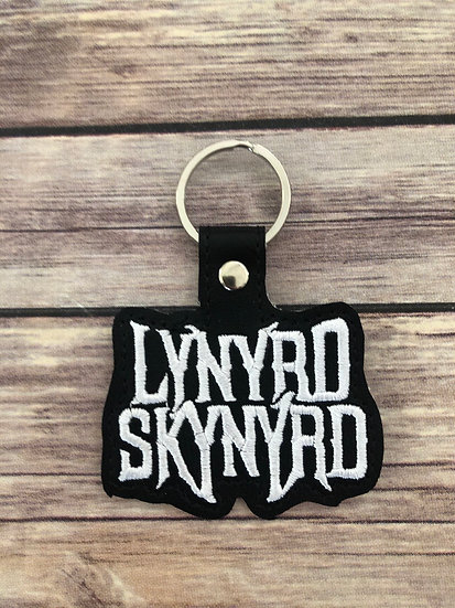 Lynyrd Skynrd Embroidered Key Chain