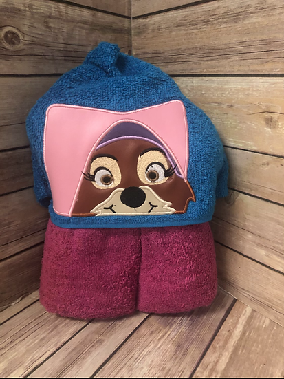 Maid Marian Child Size Hooded Towel - Ready to Ship