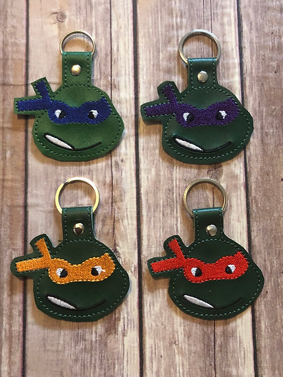 TMNT Embroidered Key Chain